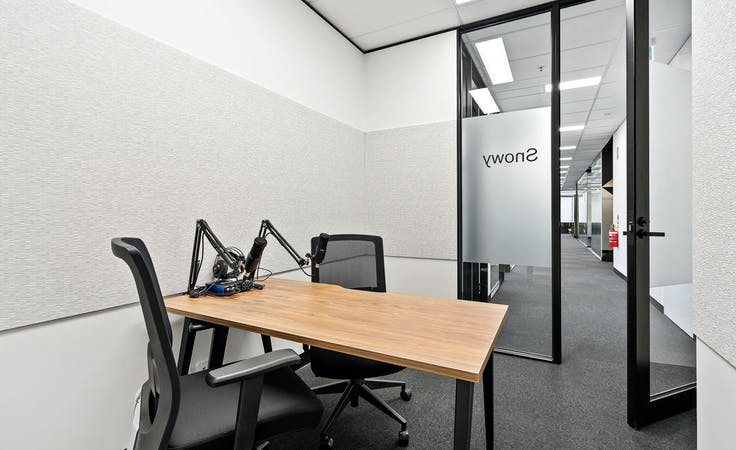 Snowy 3 Person Podcast and Meeting Room, creative studio at 607 Bourke Street, image 1