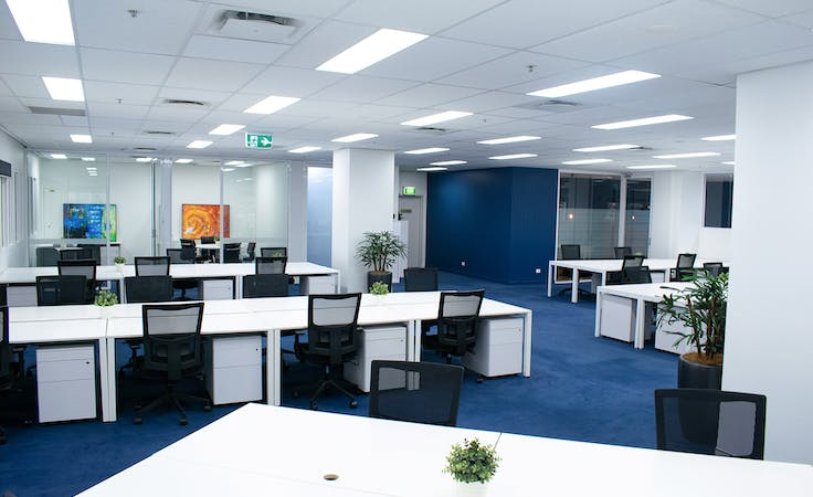 50 Person Project Space, Mezzanine Level, private office at Christie Spaces - Spring Street, image 1