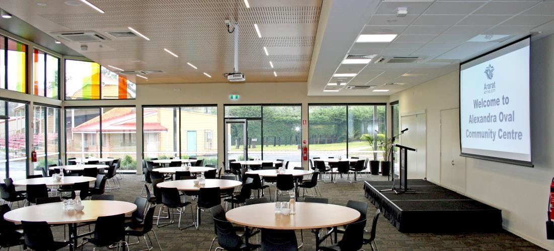Multi-use area at Alexandra Oval Community Centre, image 1