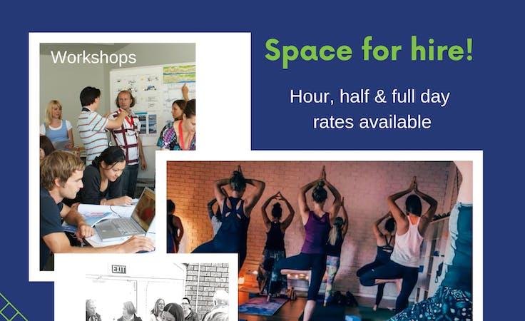 Yoga Pilates Studio for Hire, workshop at SA Wellness Centre, image 2