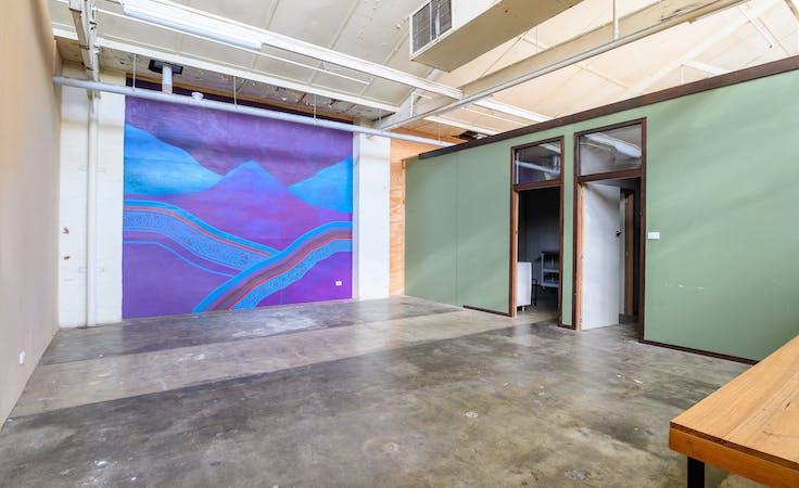 Large studio/workshop in Brunswick East Warehouse, creative studio at Mycelium Studios, image 1