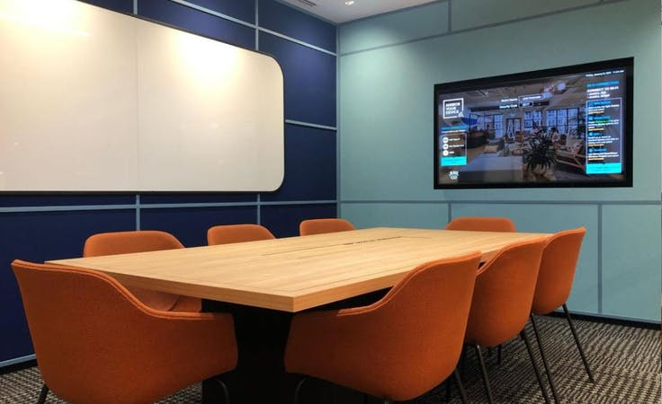 Just Innovate, meeting room at JustCo 447 Collins Street, image 1
