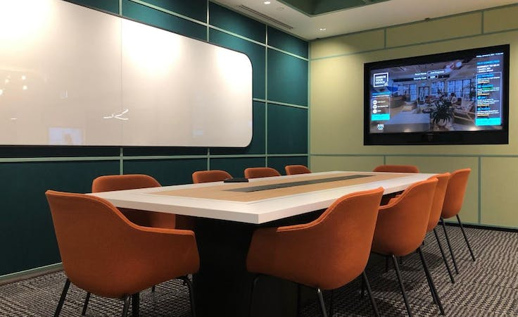 Just Empower, meeting room at JustCo 447 Collins Street, image 1