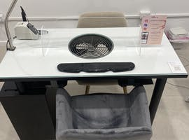 Nail Desk and Pedicure Station, multi-use area at mister beauty, image 1