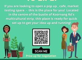 Pop-up shop at Cafe, Retail space & Popup space, image 1