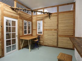 Wooden studio space, ideal for jewellery making, image 1