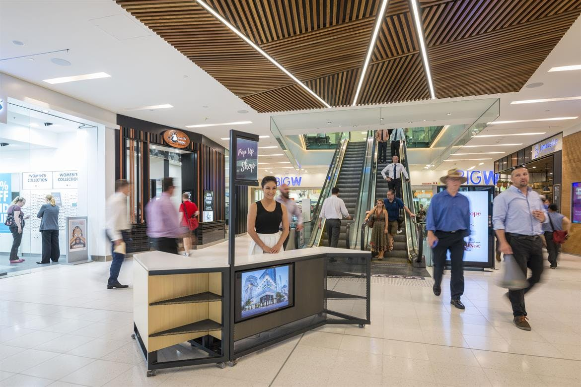 Site 1, kiosk at MacArthur Central Shopping Centre, image 1