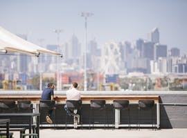 This rooftop office space boasts incredible views of Melbourne's CBD, image 1
