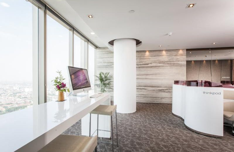 Dedicated desk in a stylish office space, image 1