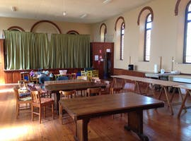 Bright, spacious church hall complete with stage, image 1