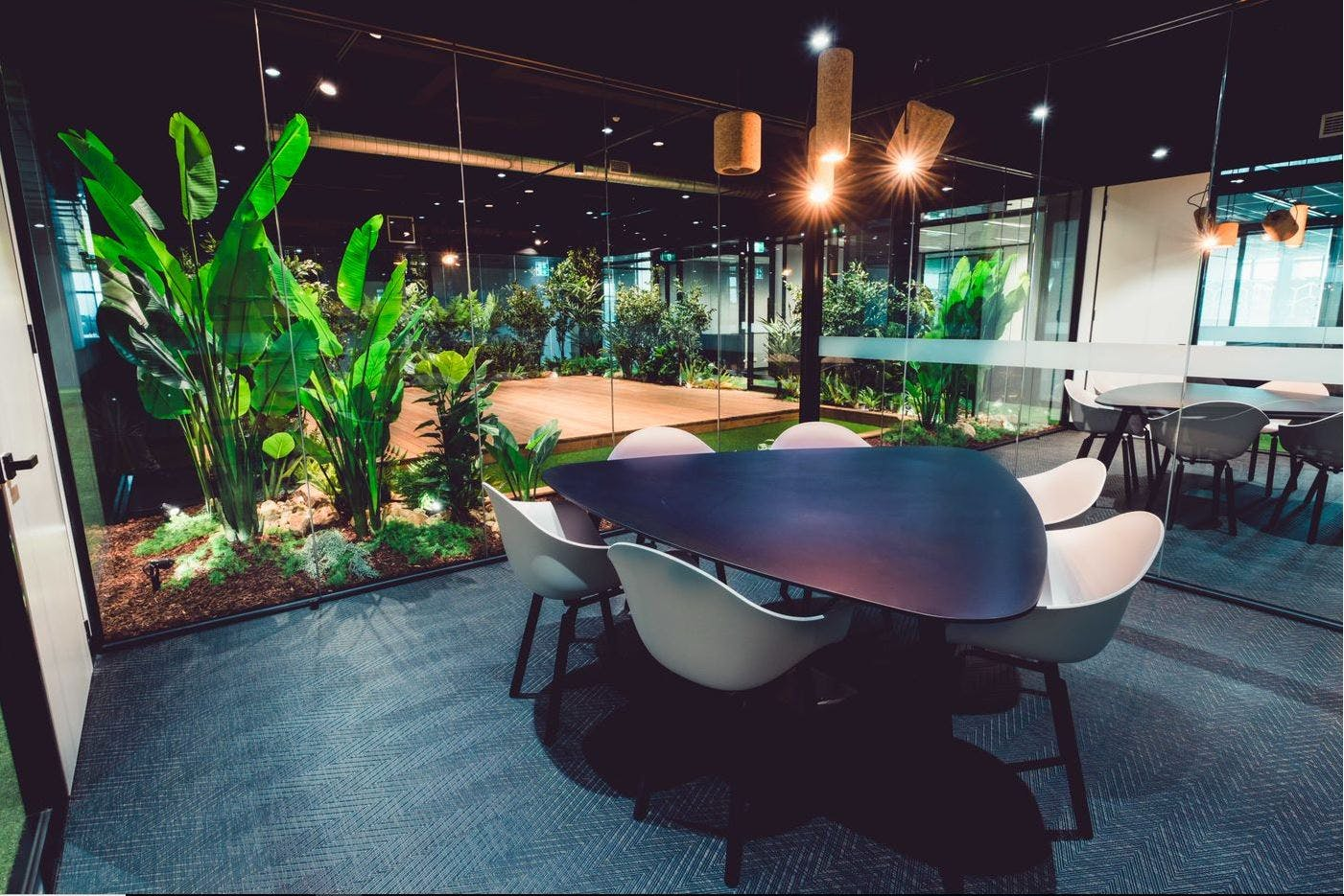 Internal with filtered natural light - views of Jungle, serviced office at 44 Lakeview Drive, image 3