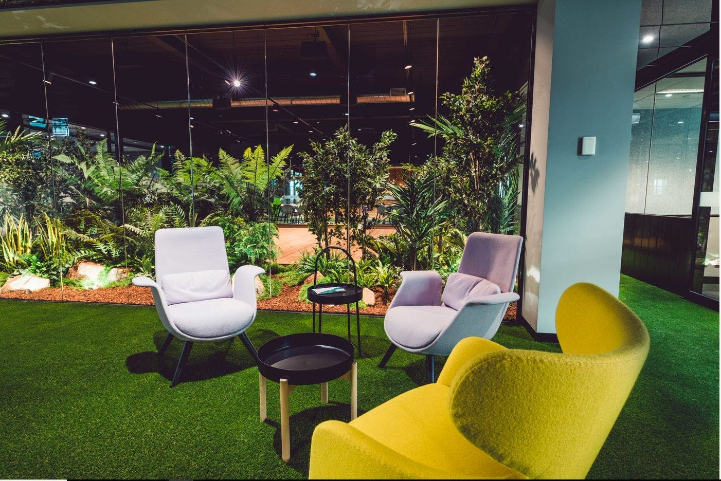 Internal with filtered natural light - views of Jungle, serviced office at 44 Lakeview Drive, image 4