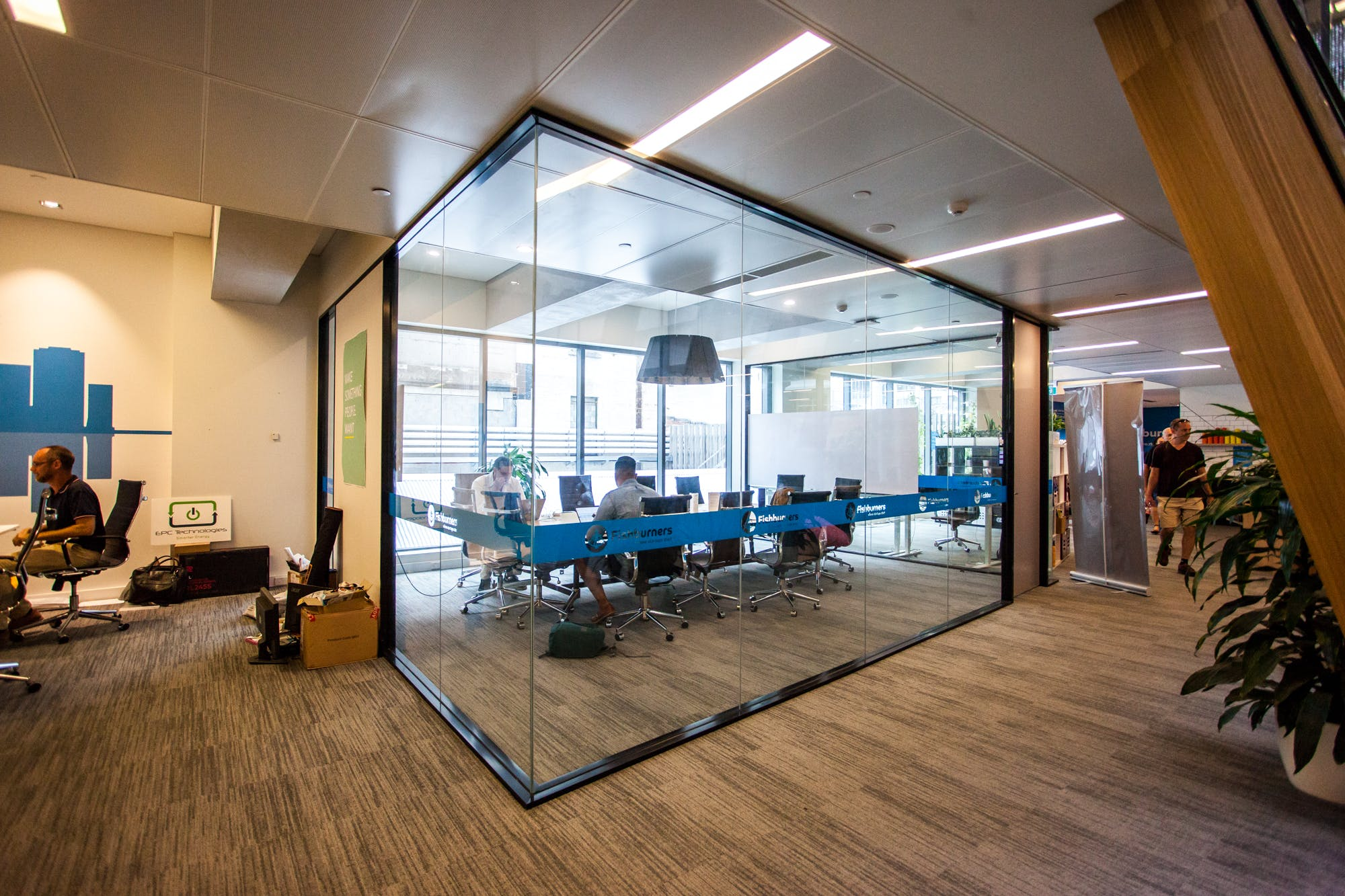 Private Boardroom for 14 at Fishburners, meeting room at Fishburners Brisbane, image 1