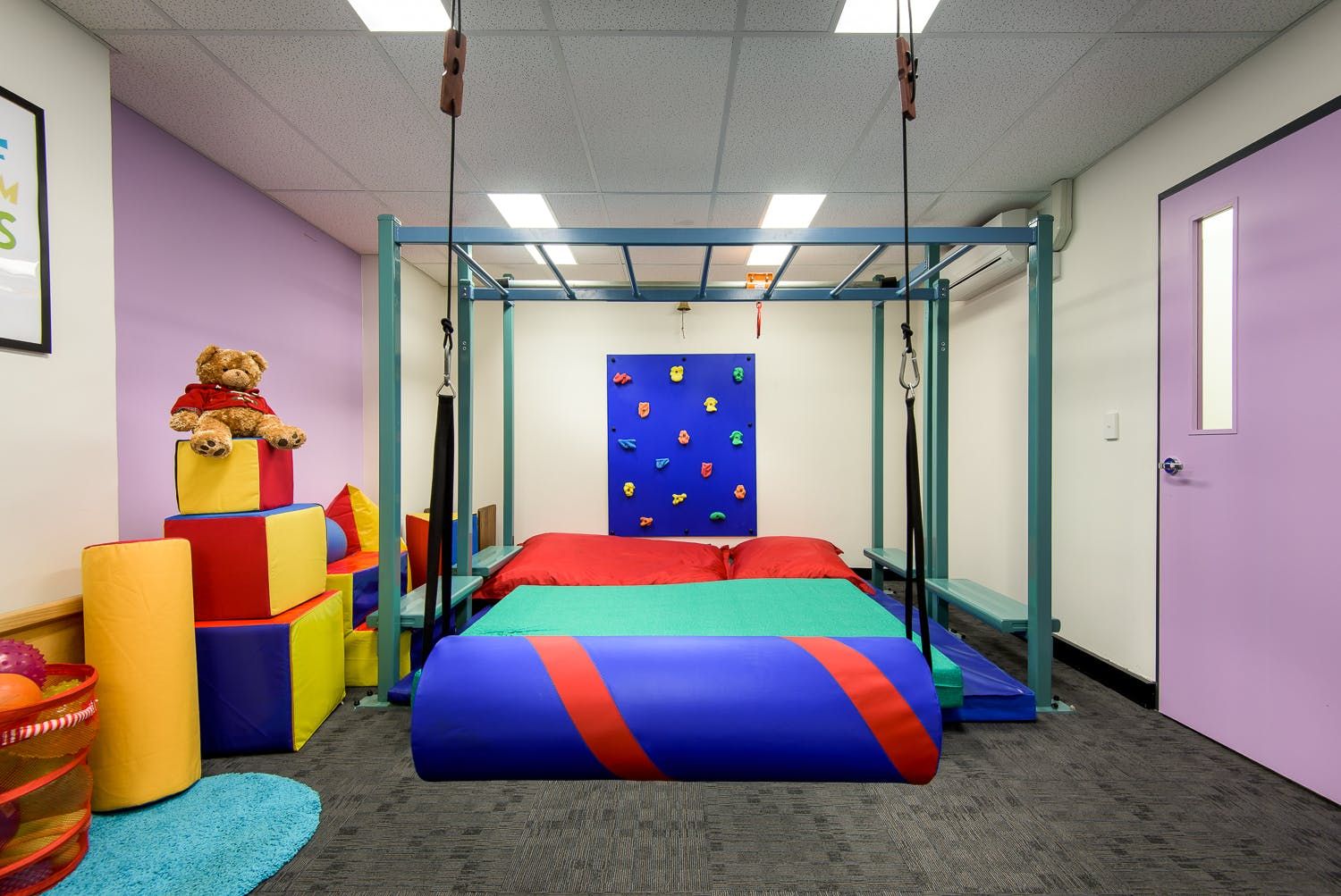 Large Therapy Room / Children's Gym Room, multi-use area at AIM Occupational Therapy, image 1