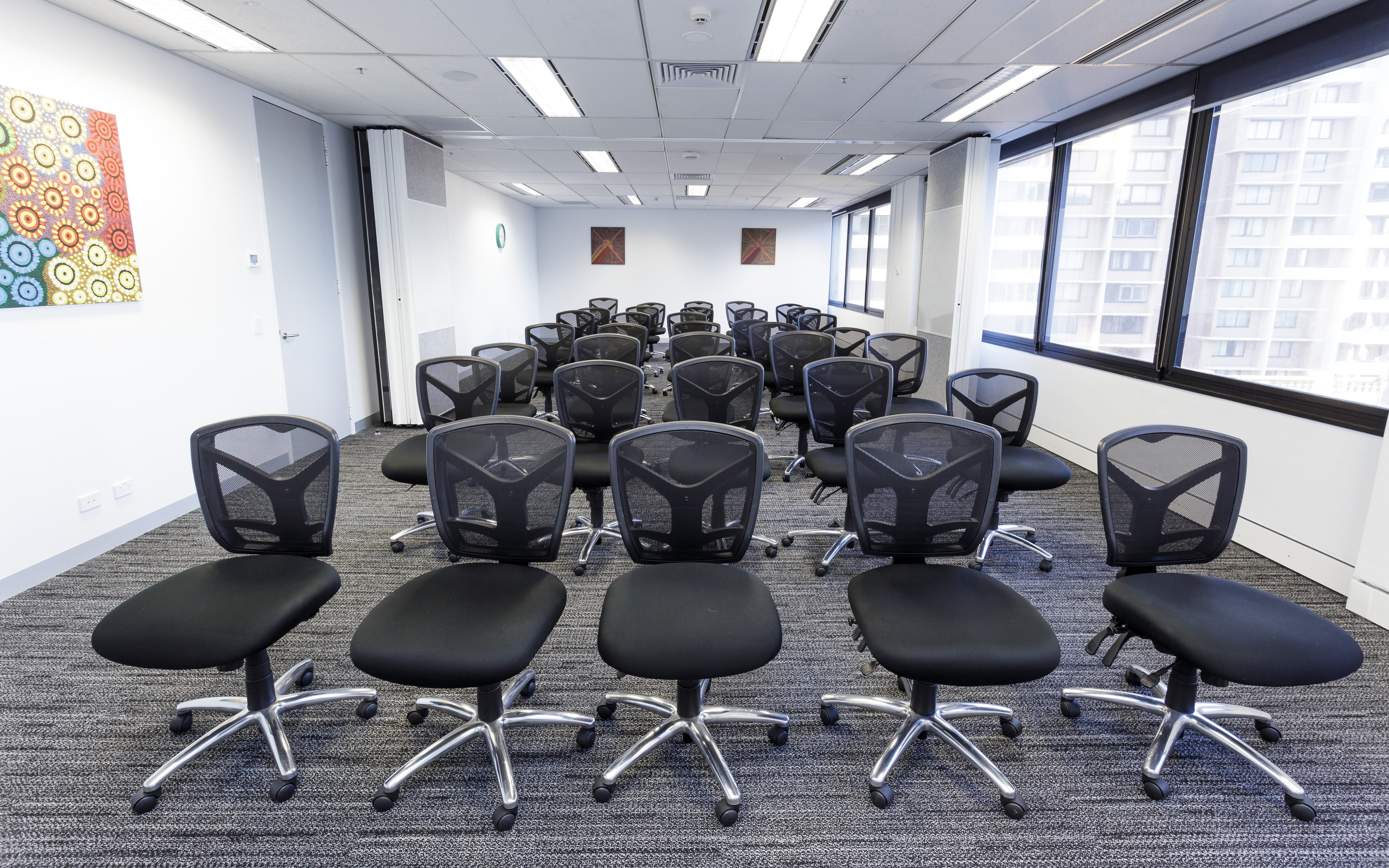 Double room sized training room with an abundance of natural light , image 1