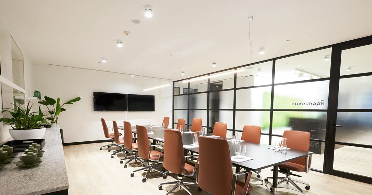 18 Seater Boardroom, meeting room at Sector Serviced Offices Collins St, image 1