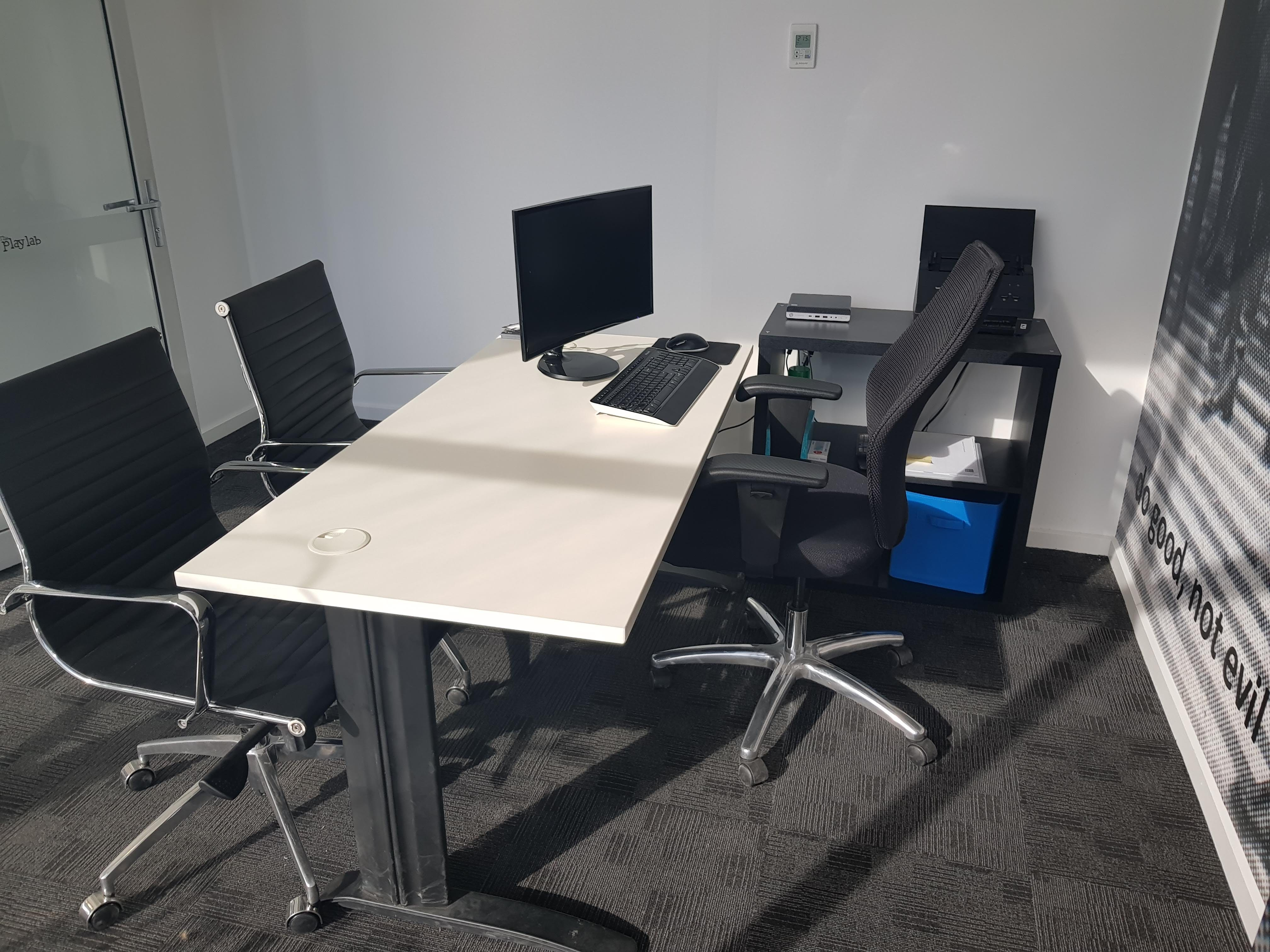 """The """"Do Good Not Evil"""" Room, private office at The PlayLab Co-Working Shepparton, image 1"""
