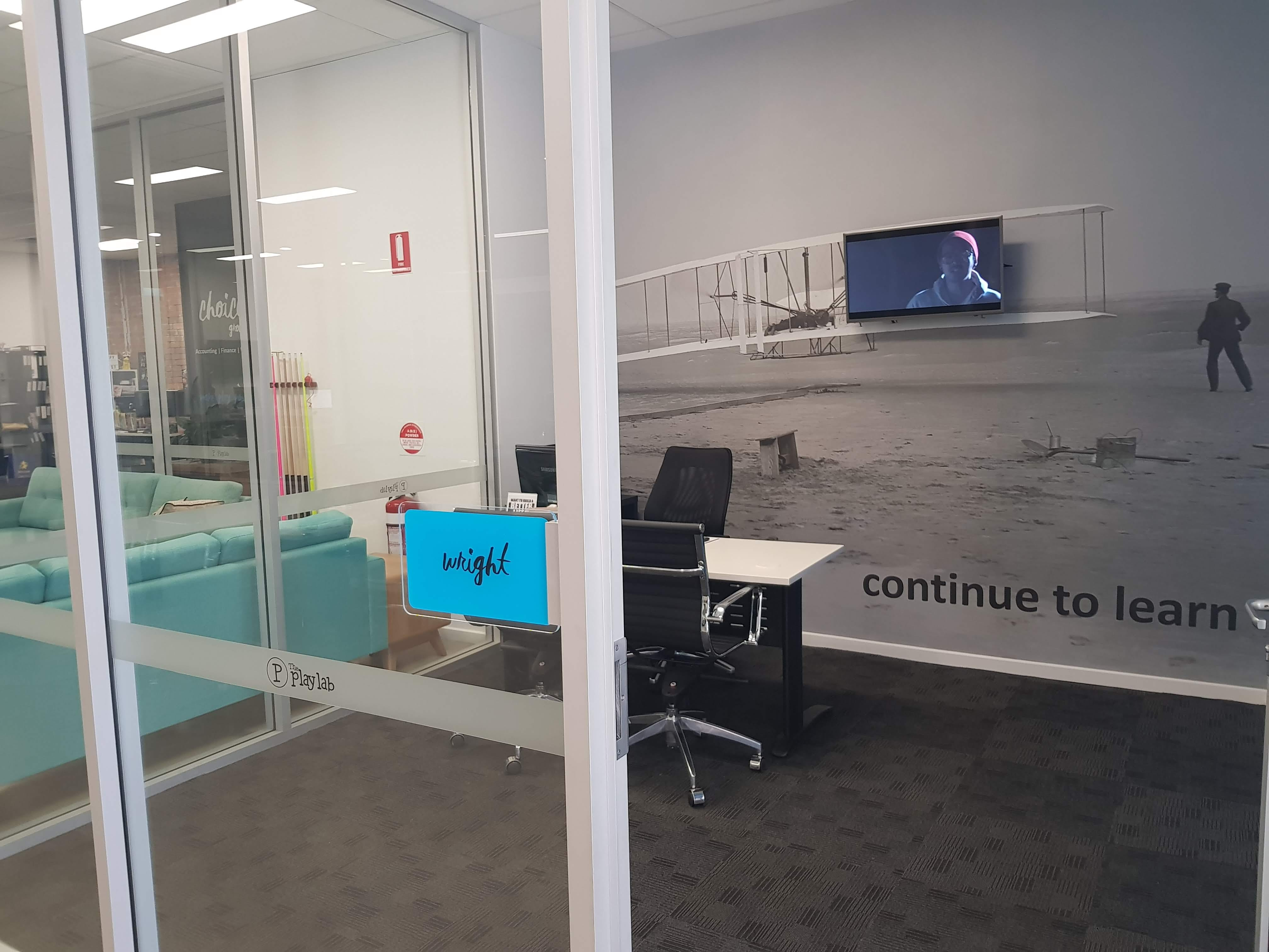The Wright Room, private office at The PlayLab Co-Working Shepparton, image 1