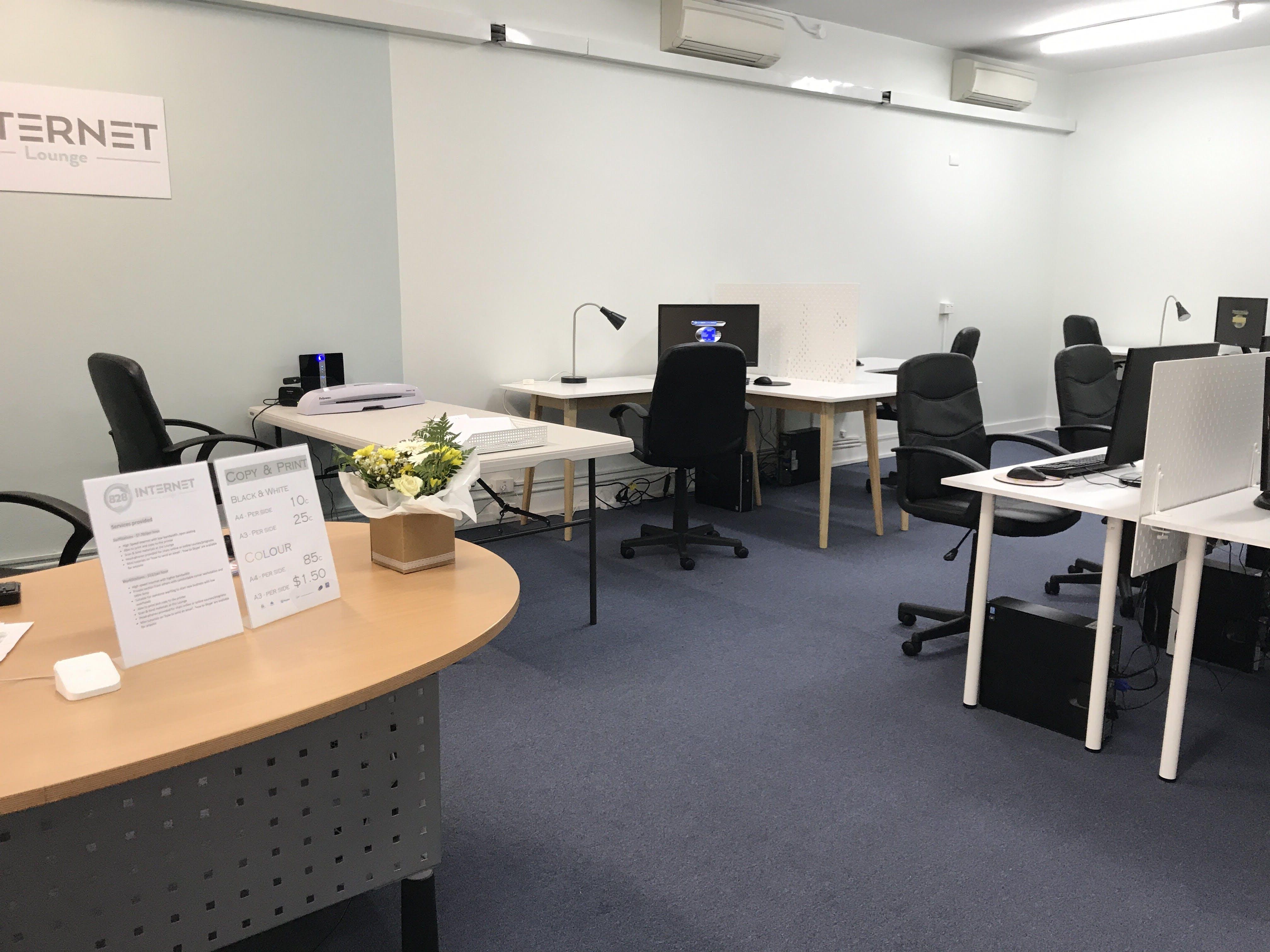 828 Internet Lounge, training room at Bunbury City Plaza, image 1
