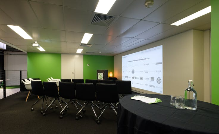 This sleek meeting room comes with presentation equipment, image 1