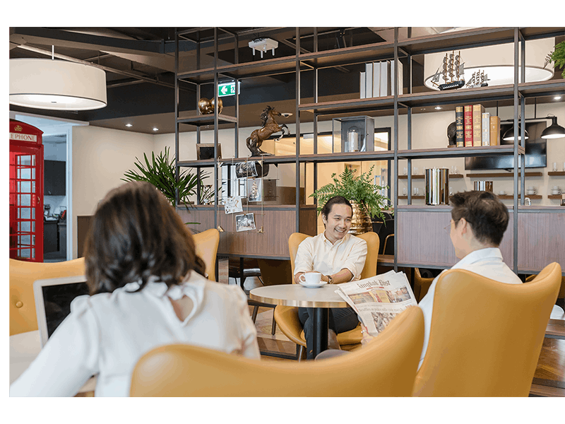 4-person collaborative workspace, serviced office at Westpac House, image 1