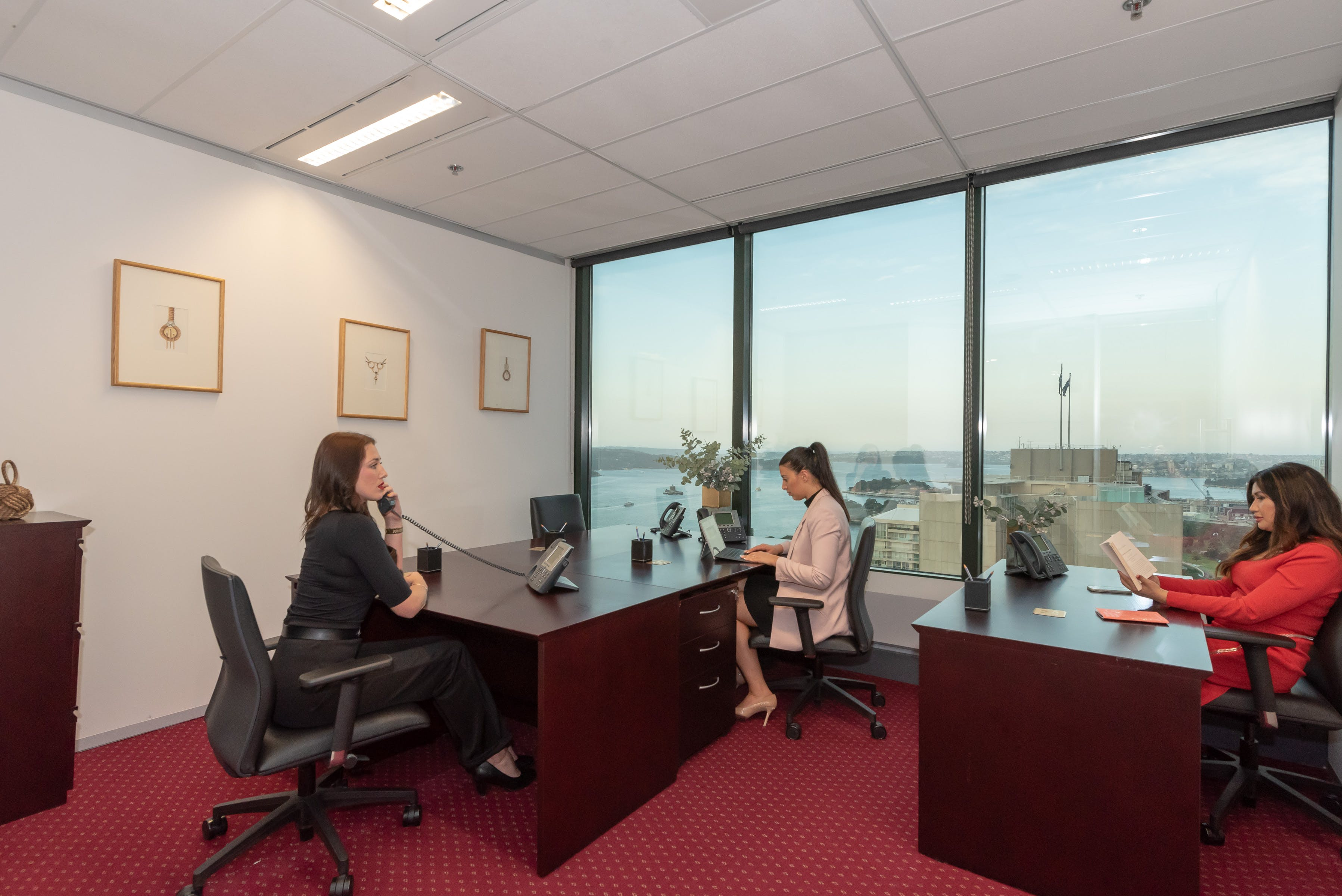 Collaborative 8-person workspace with amazing views of Brisbane CBD, serviced office at Riparian Plaza, image 12