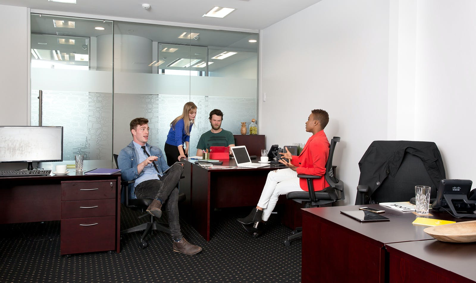 4-person private office with unlimited access to Coworking breakout areas, serviced office at Tower One Barangaroo International Towers Sydney, image 1