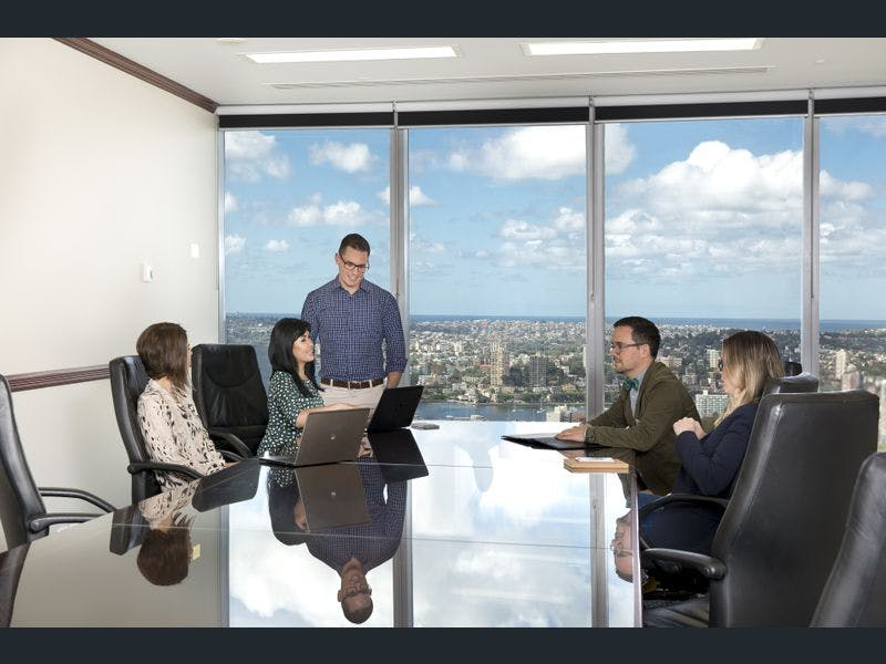 Enjoy amazing views from your 6-person collaborative workspace, serviced office at Chifley Tower, image 7