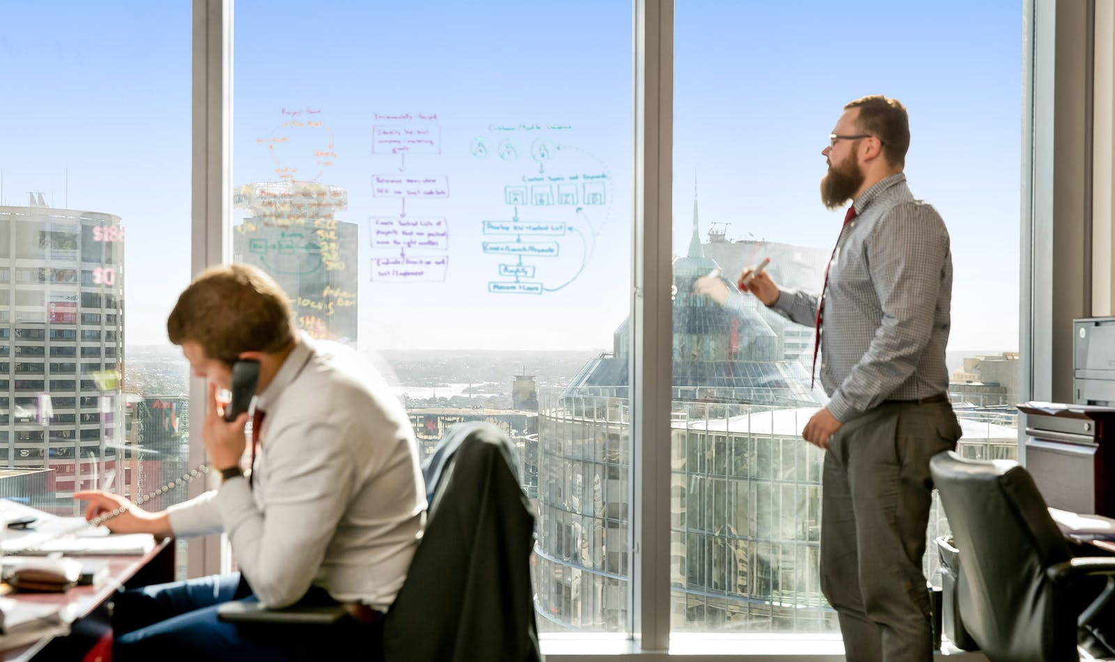 Enjoy amazing views from your 6-person collaborative workspace, serviced office at Chifley Tower, image 1