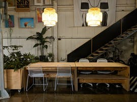 Trendy co-working space in a converted warehouse, image 1
