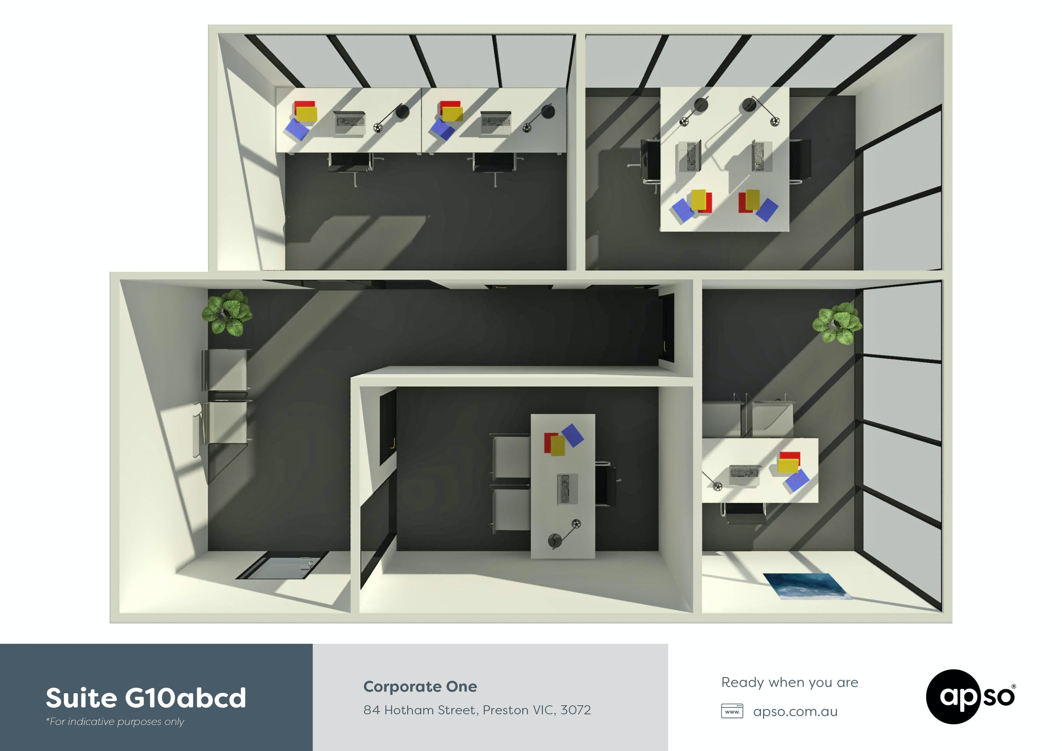 Suite G10abcd, private office at Corporate One, image 12