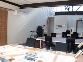 Four desks available in our light-filled office, shared office at Silver Street Studio, image 1
