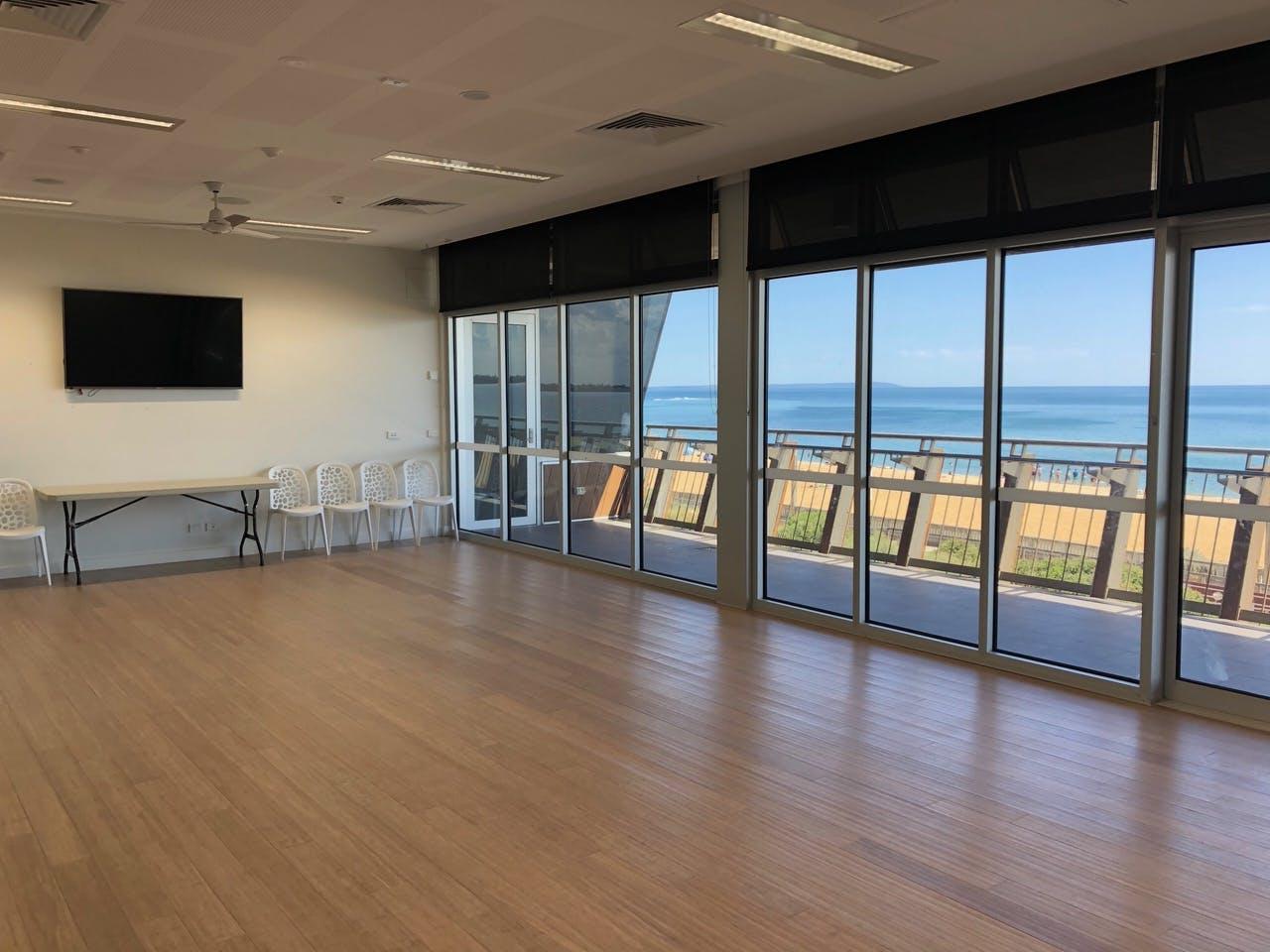 The Long Room, multi-use area at Mordialloc Life Saving Club, image 1