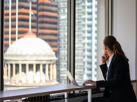Generously sized with views across the city and Flagstaff Gardens, private office at 456 Lonsdale Street Melbourne, image 1