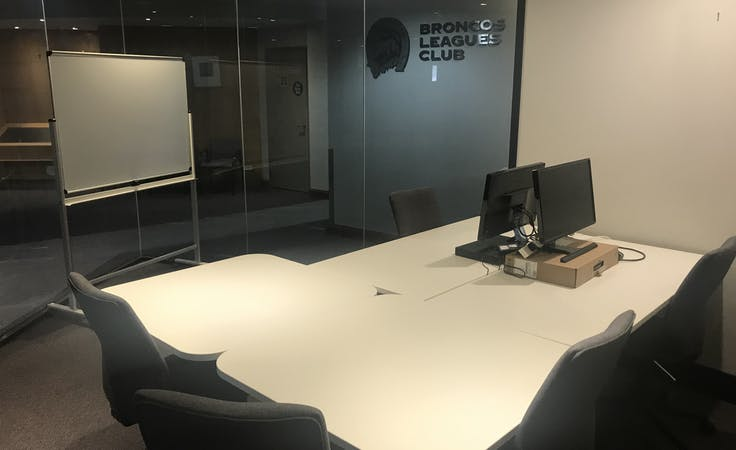 Fishbowl, private office at Broncos Leagues Club, image 1