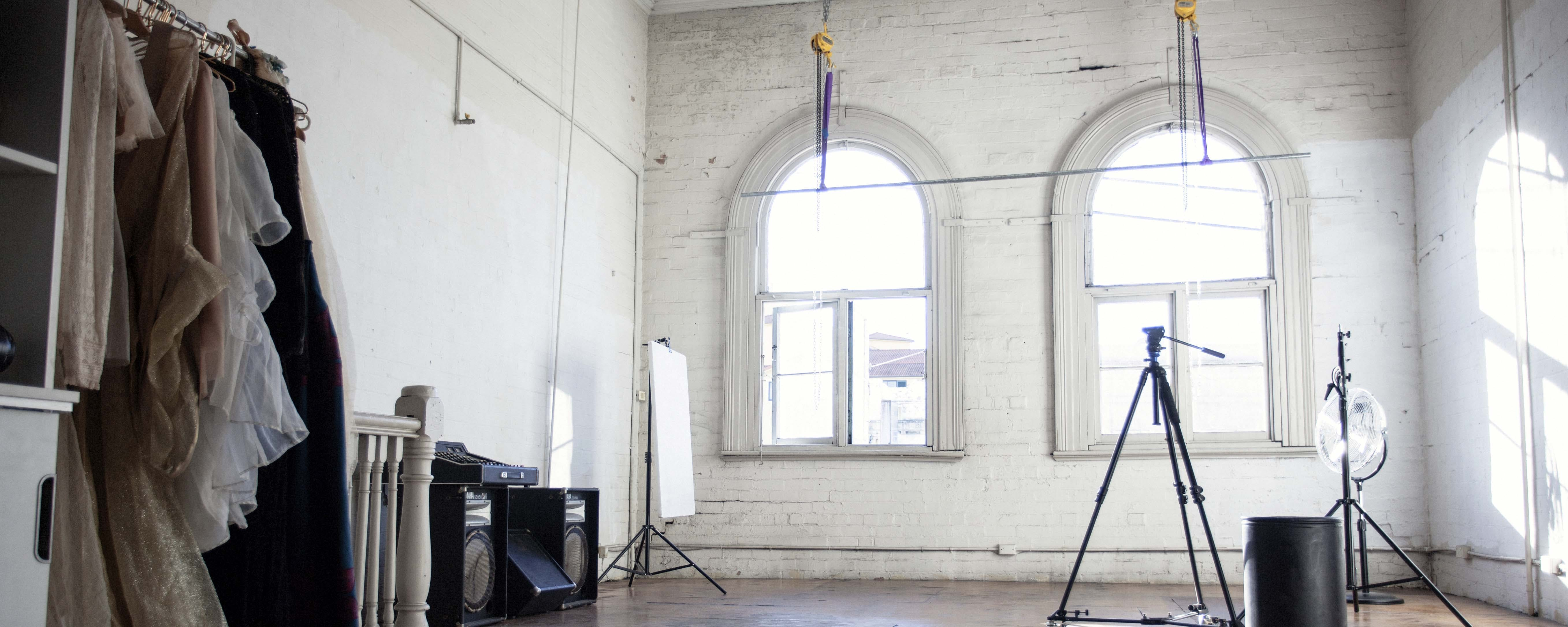 This studio is flooded with natural light, image 1
