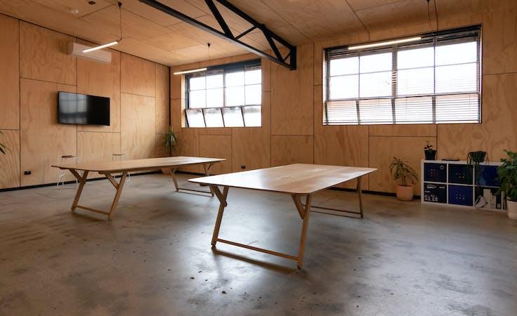Dedicated desk at a light-filled, first-floor Collingwood studio, image 1