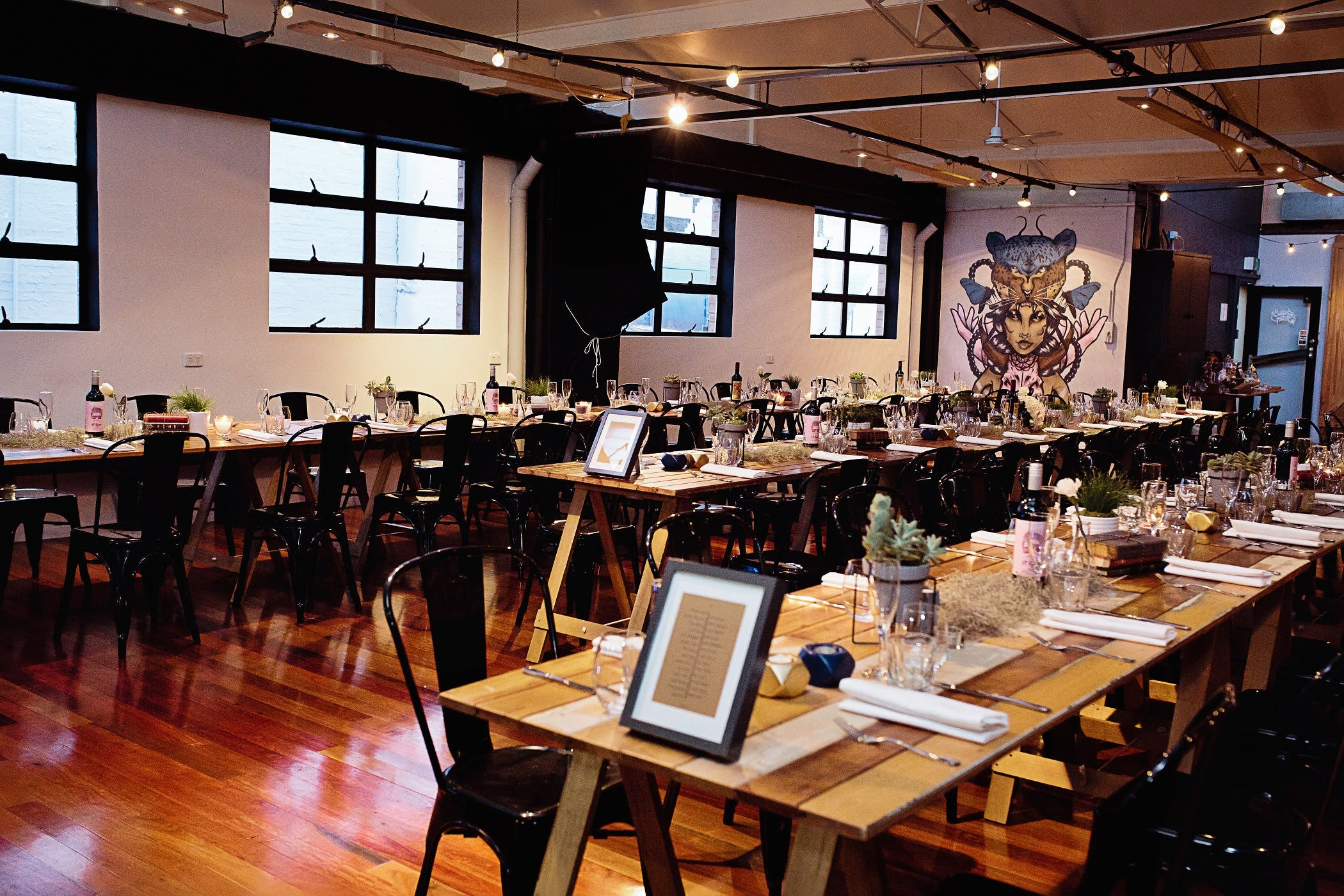 Beautifully decorated function room at Cupo, image 1